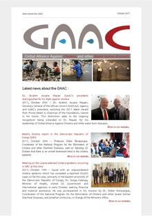 Latest news about the Global Alliance against Cholera and Other water borne diseases (GAAC) - October 2017