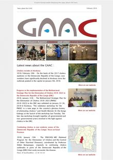 Latest news about the Global Alliance against Cholera and Other water borne diseases (GAAC)